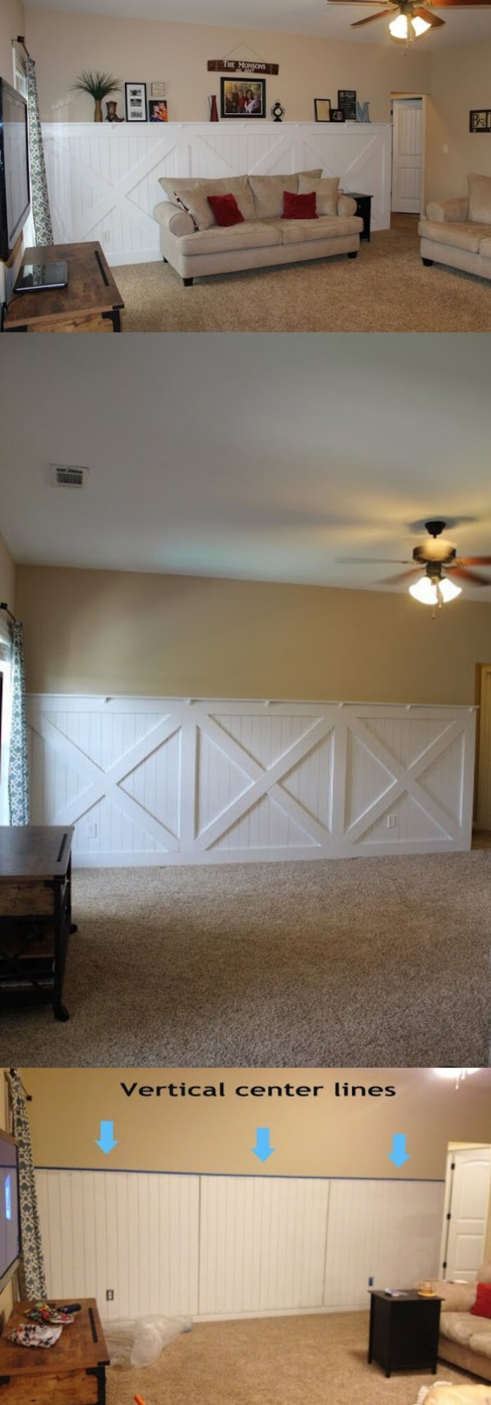 DIY barn door wainscoting | Amazing Wainscoting Ideas for Your New Home