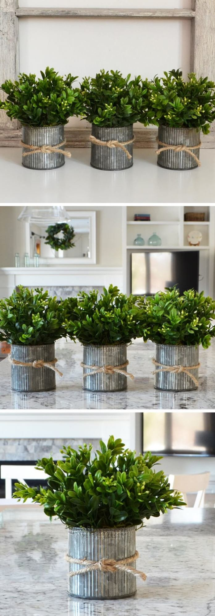 Faux Boxwood | Best Farmhouse Indoor Plant Decor Ideas & Designs