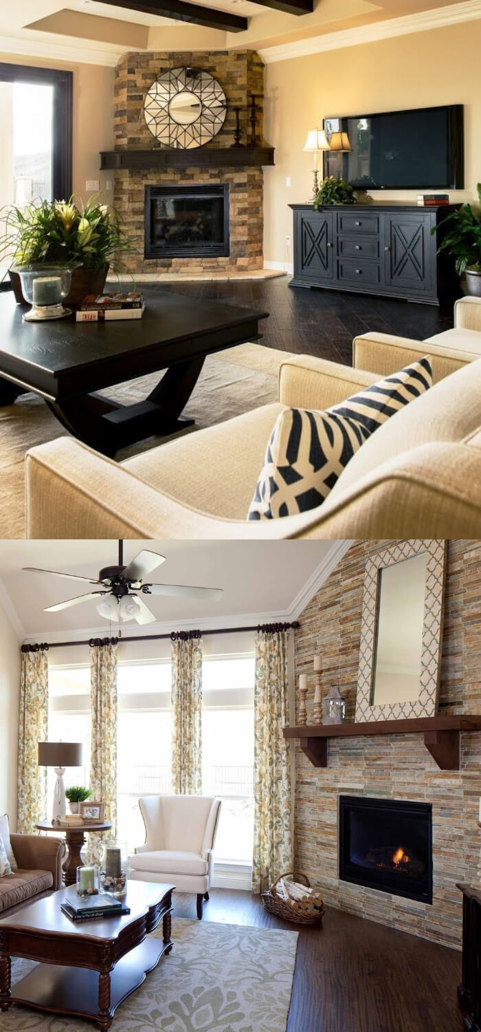 20 Elegant Corner Fireplace Ideas Designs For Your Home 2020
