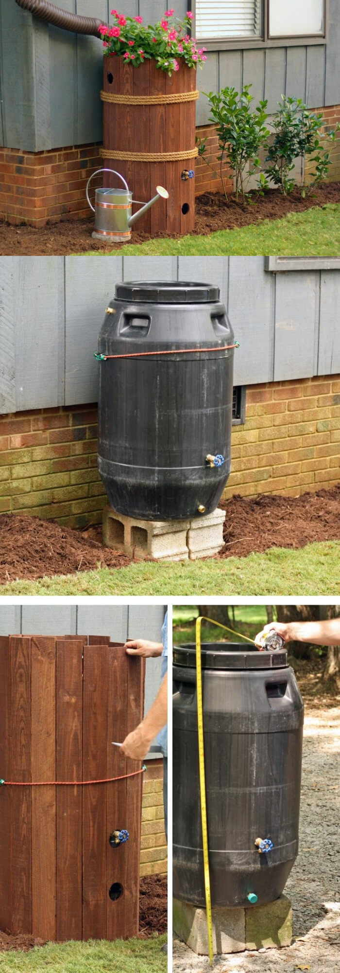 Make a rain barrel | Best Downspout landscaping ideas