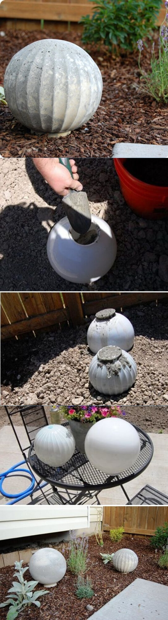 DIY Concrete garden spheres | Best DIY Garden Globe Ideas & Designs