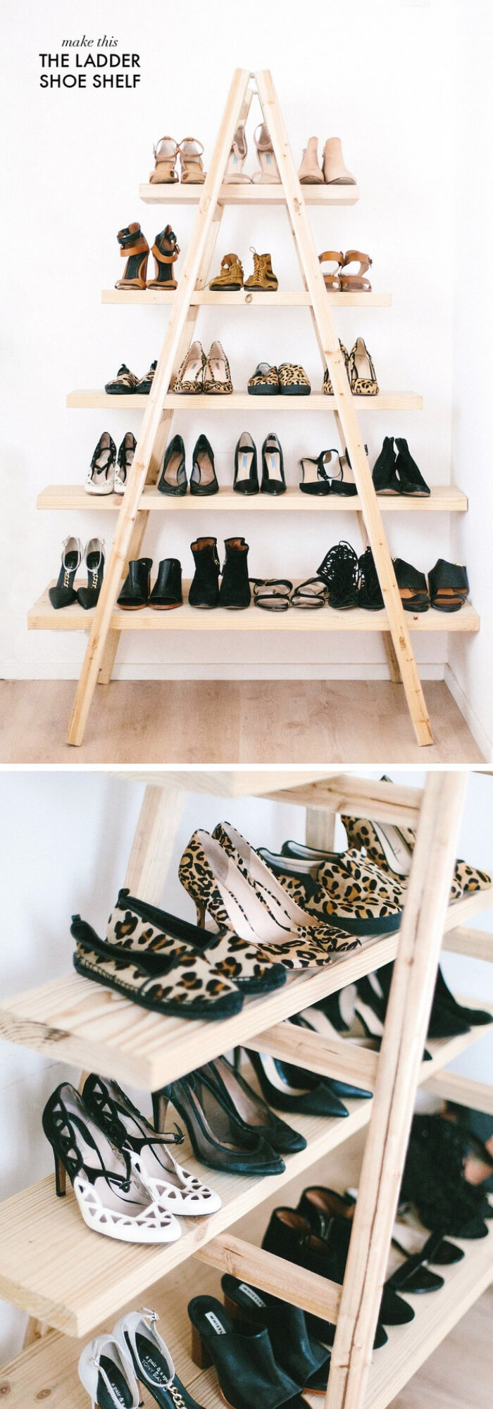 The Ladder Shoe Shelf (Pyramid Stairs) | Smart Shoe Storage Ideas & Designs For Any Zoom Size