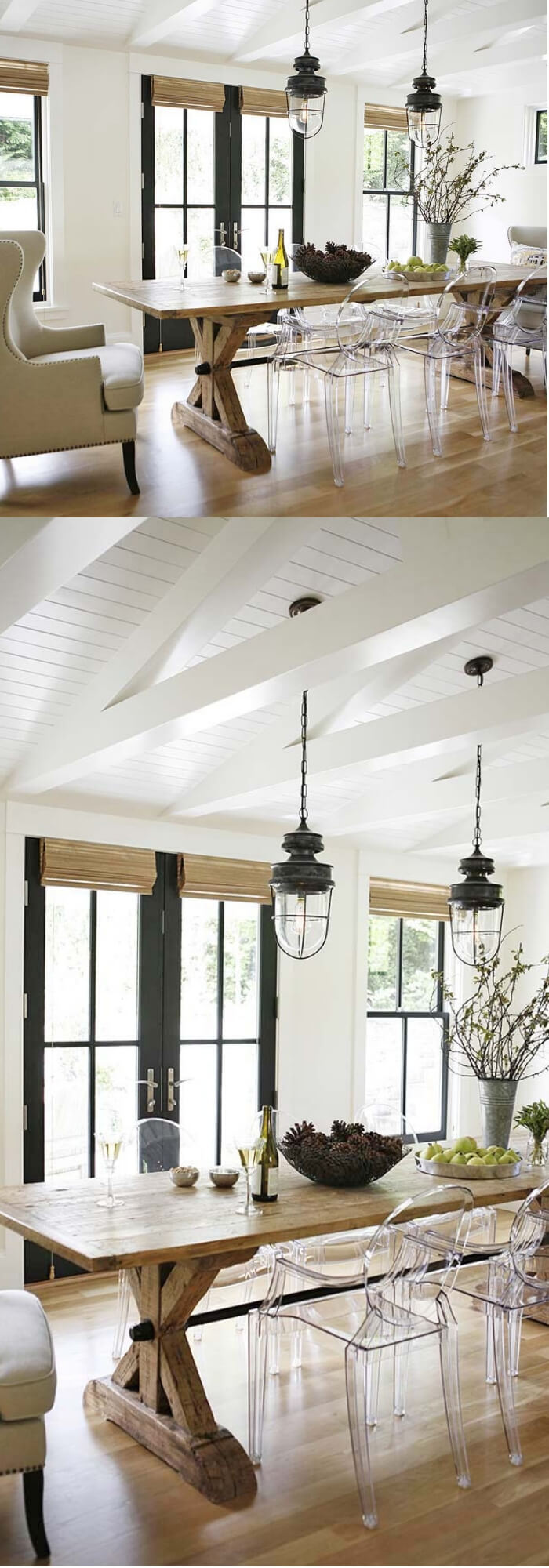 Farmhouse Lighting Designs & Ideas: Metal Pendant Lights
