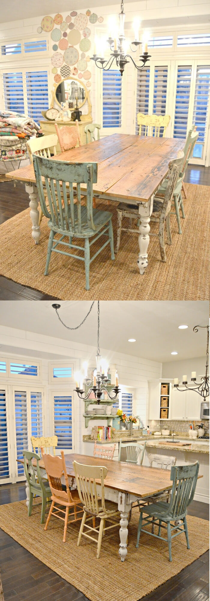 28+ Stunning Farmhouse Dining Room Decor & Design Ideas ...