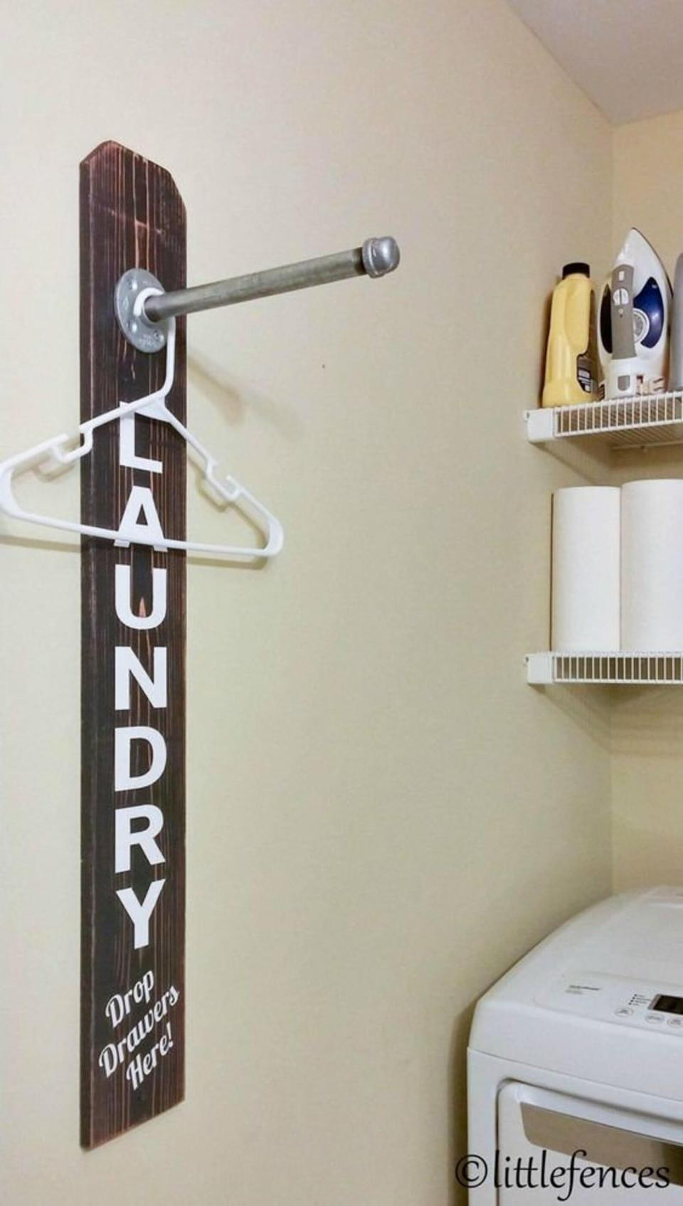 DIY Farmhouse Laundry Room Ideas: Laundry Room Sign