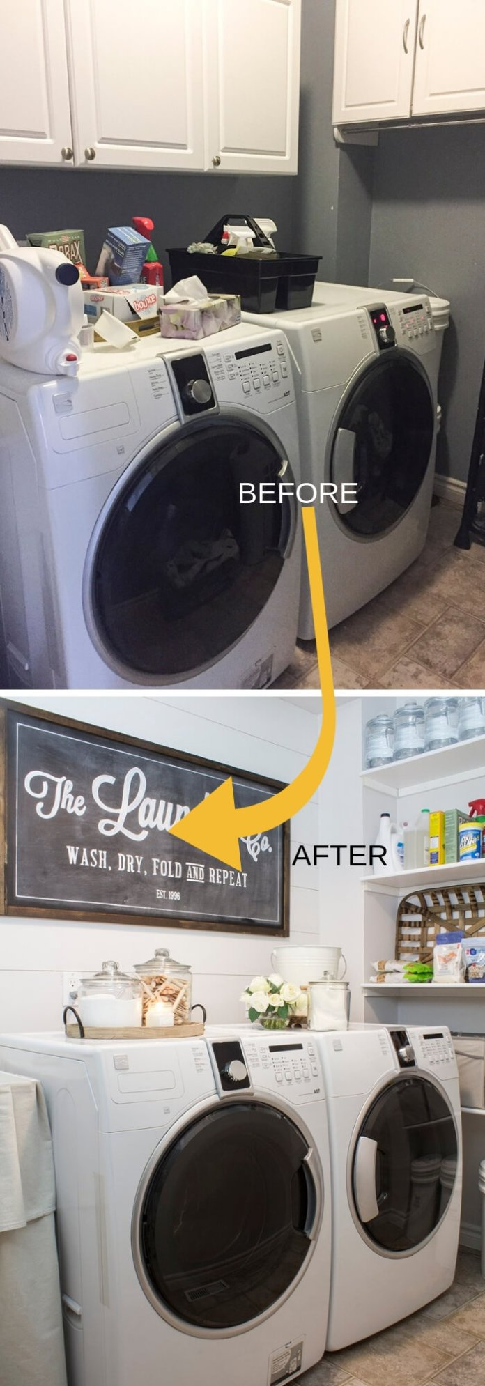 DIY Farmhouse Laundry Room Ideas: Farmhouse laundry room makeover
