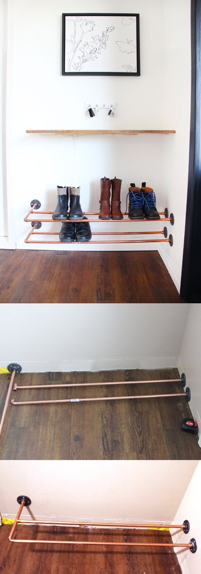 Copper Shoe Rack | Smart Shoe Storage Ideas & Designs For Any Zoom Size