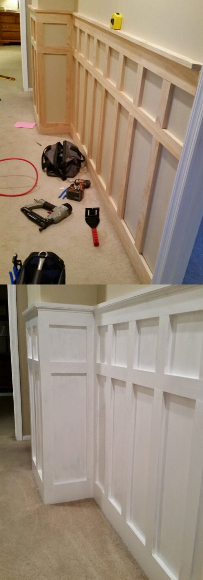 Board and Batten Wainscoting Hallway | Amazing Wainscoting Ideas for Your New Home