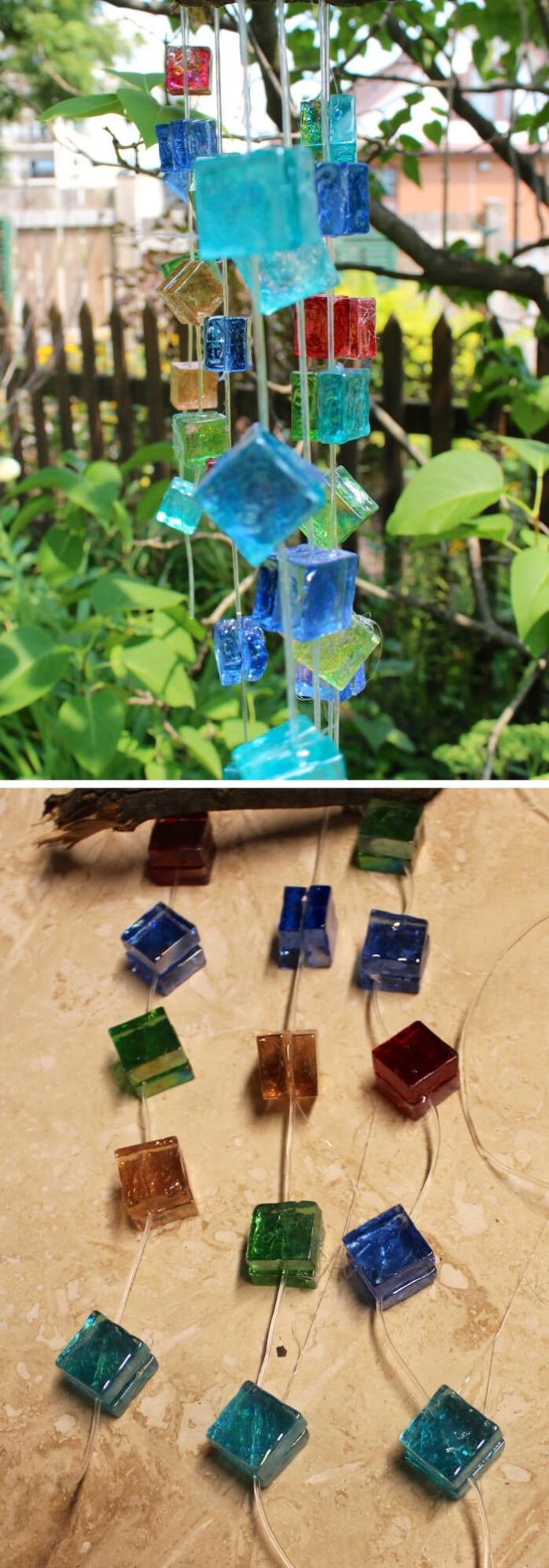 Glass Mosaic Wind Chime
