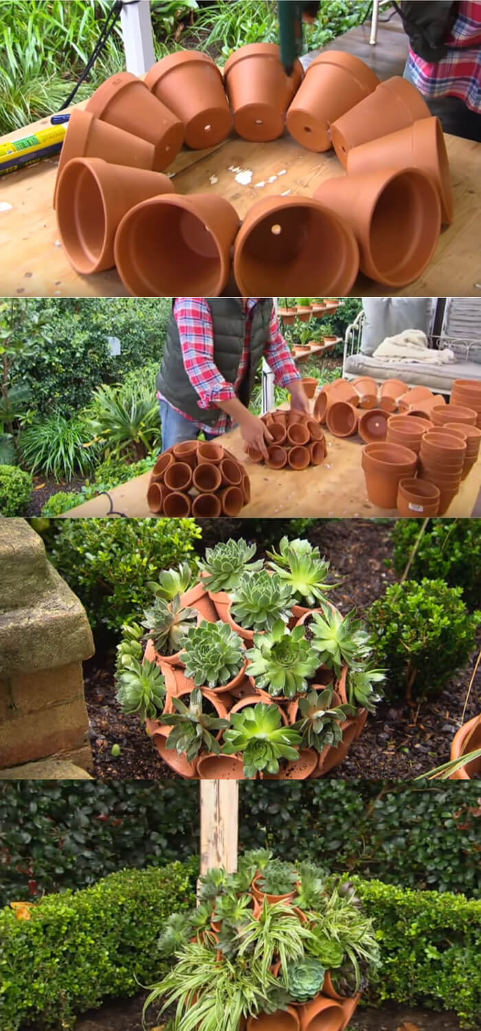DIY Terracotta Garden Art | Best DIY Garden Globe Ideas & Designs