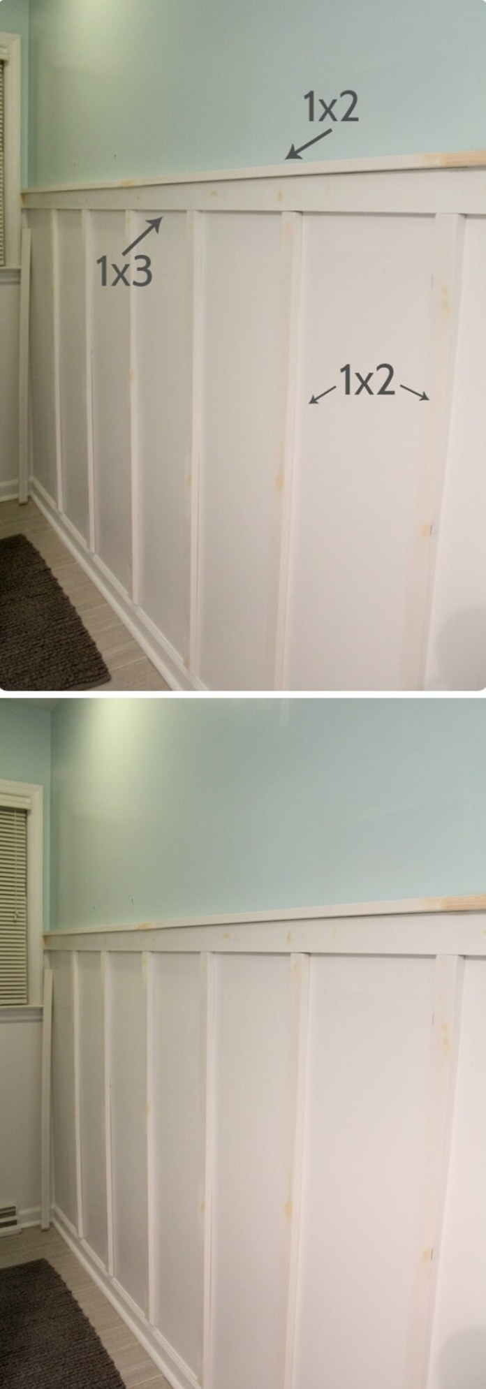 Cheap and Easy Board and Batten | Amazing Wainscoting Ideas for Your New Home