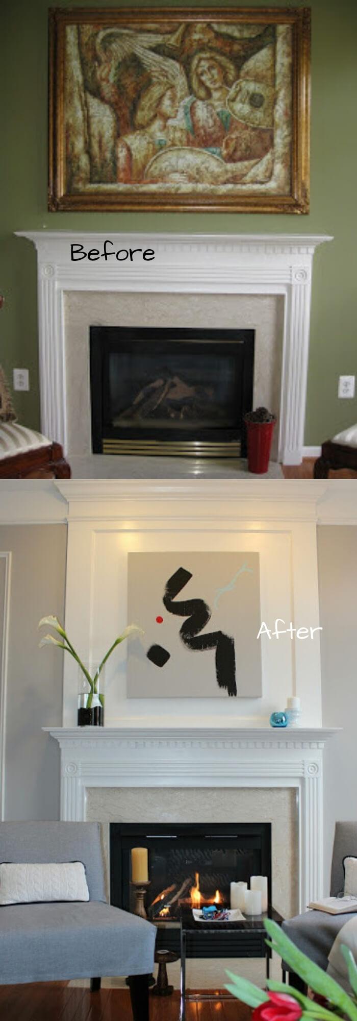Adding Visual Interest and Height to your Fireplace