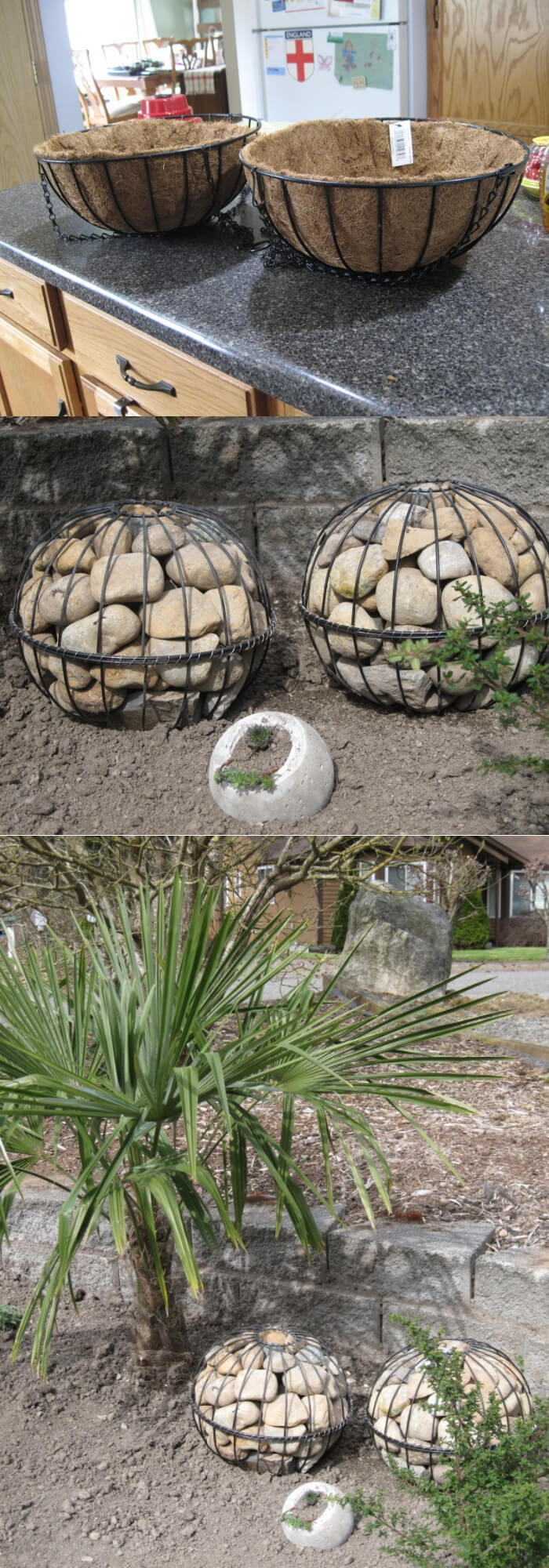 DIY Gabion Globes | Best DIY Garden Globe Ideas & Designs