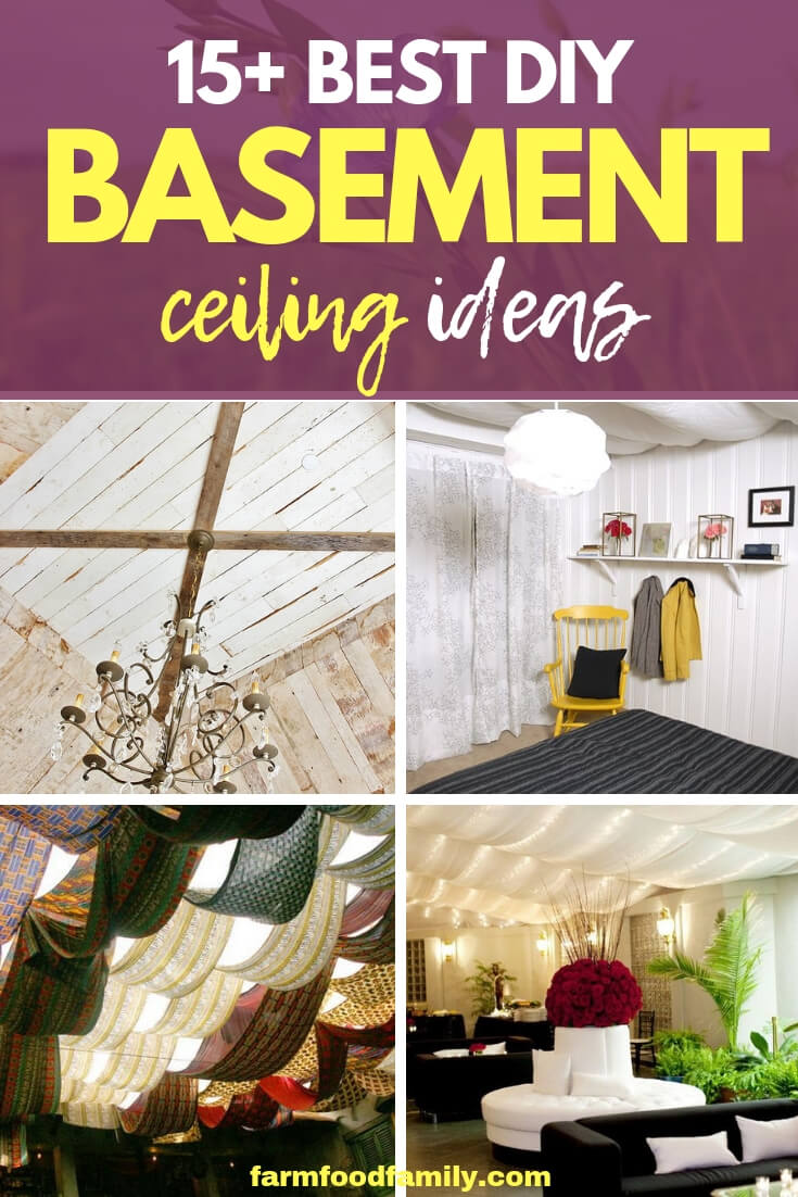 Creative DIY Basement Ceiling Ideas & Designs For Your Home