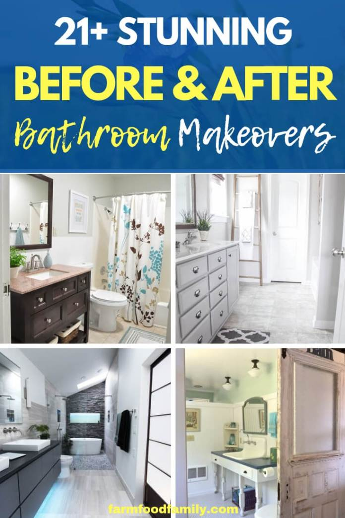 best before and after bathroom makeovers