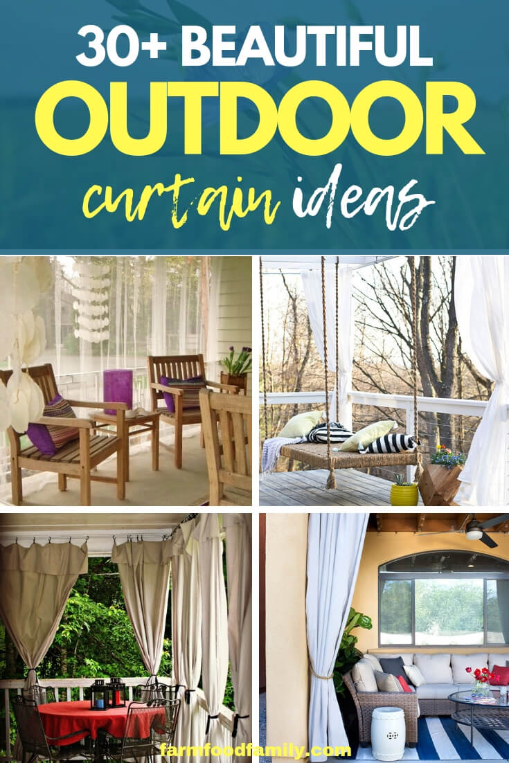 creative outdoor curtain ideas & designs that will spice up your outdoor space