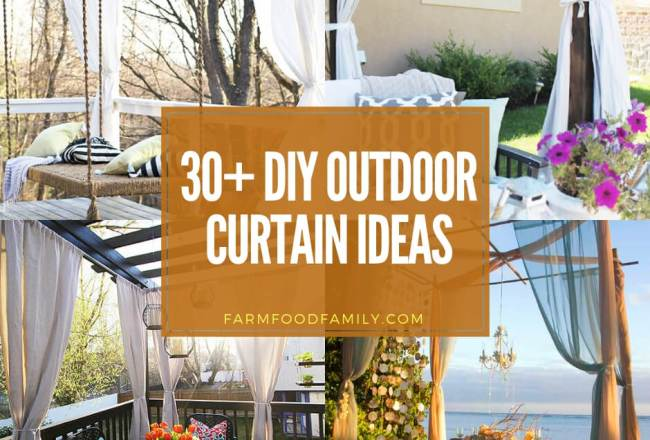 30+ Best Outdoor Curtain Ideas & Ideas For Your Outdoor...