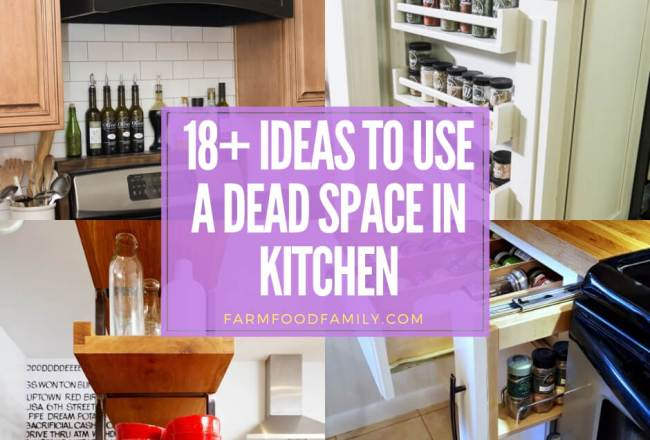 18+ Kitchen Storage Hacks To Use a Dead...