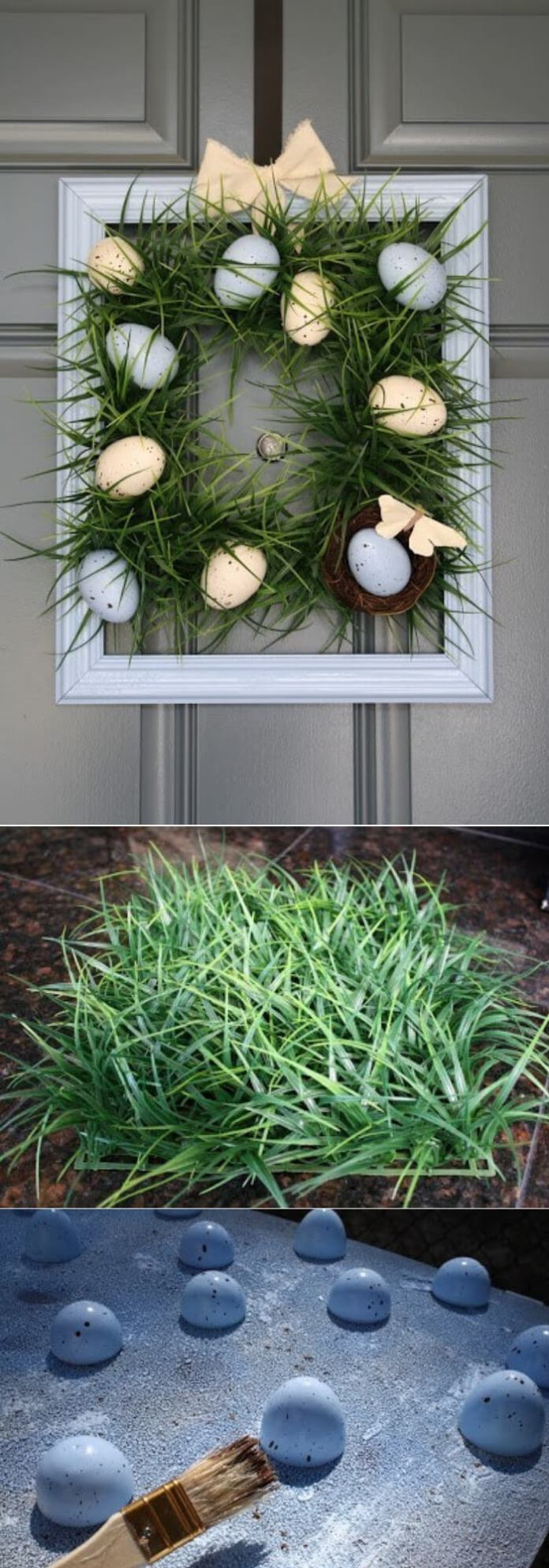 Square Grass Wreath | Best DIY Easter Wreath Ideas & Designs