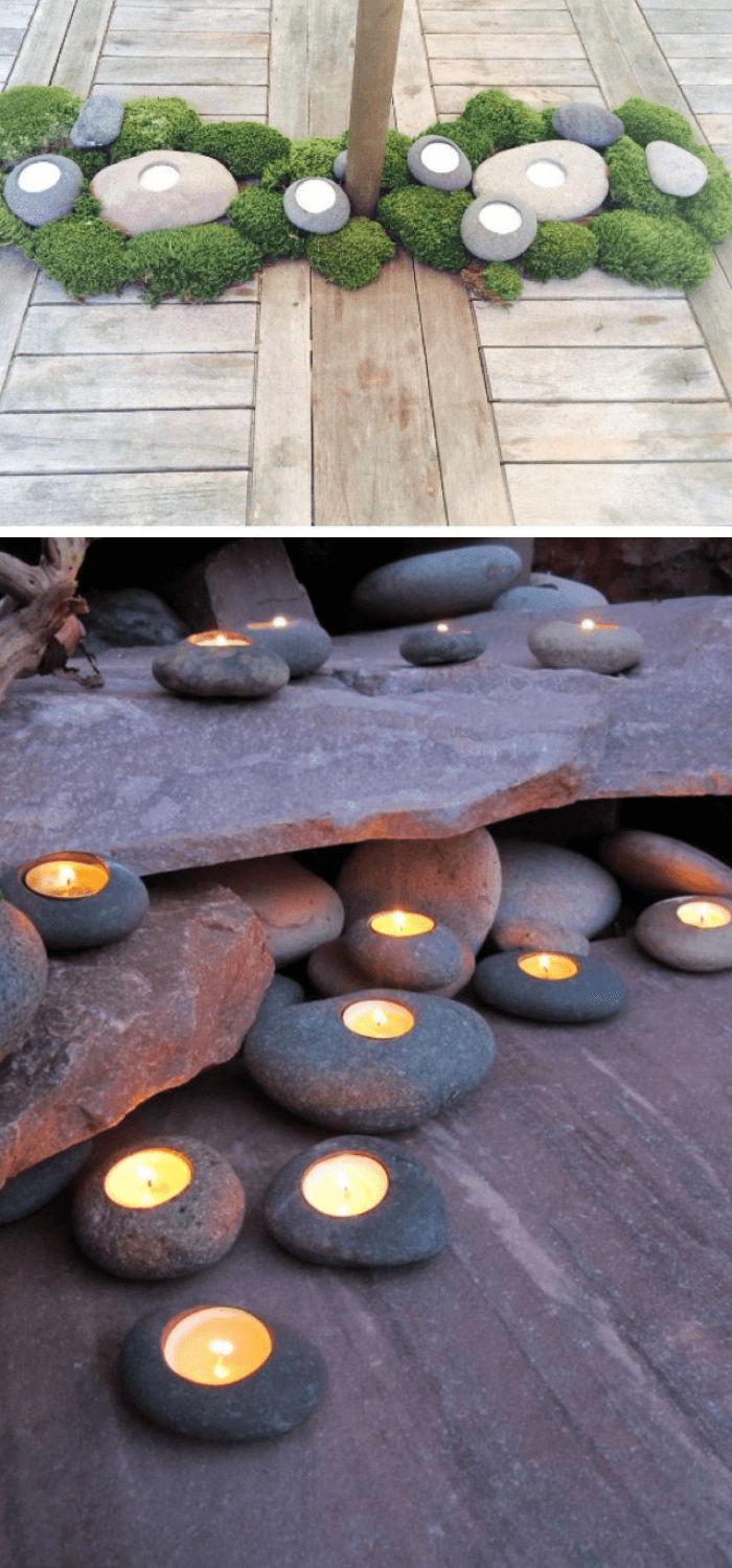 Tealight Rock Candle Holders