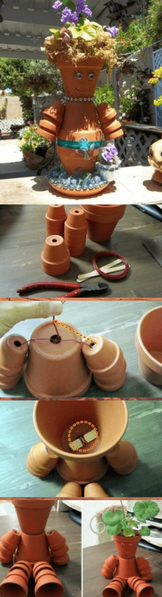 DIY Clay Pot Flower People