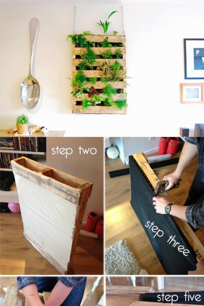 DIY Pallet Living Wall