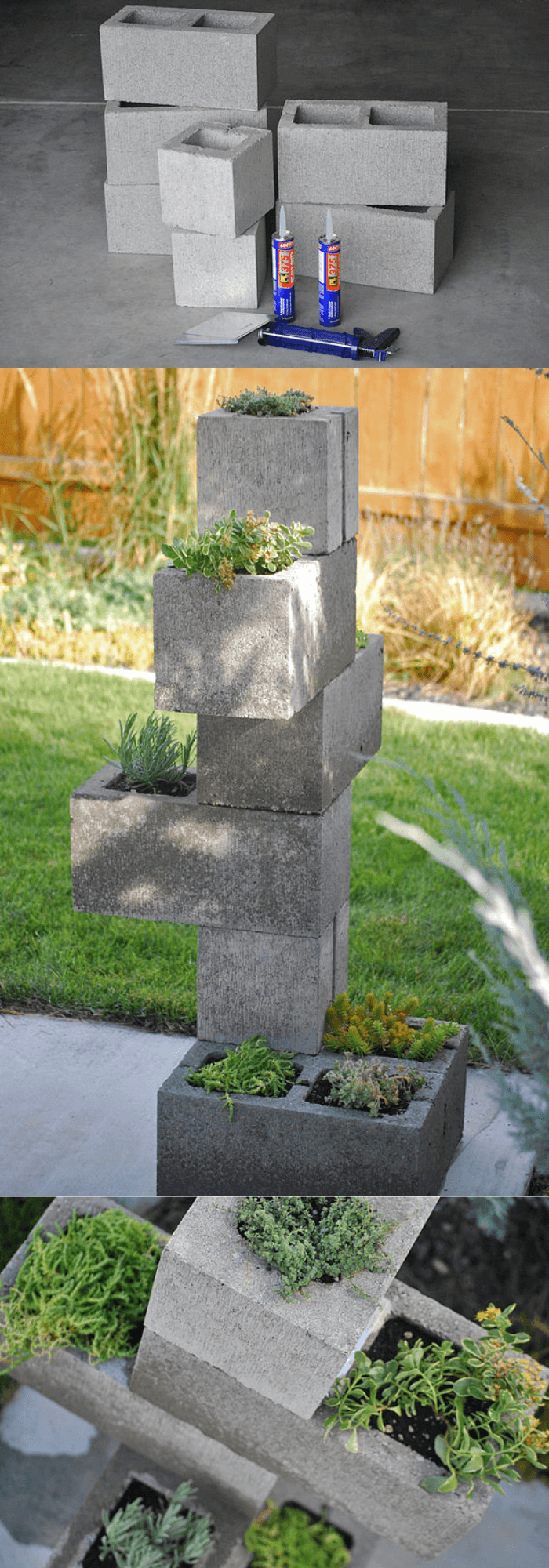 DIY Cinder Block Planter