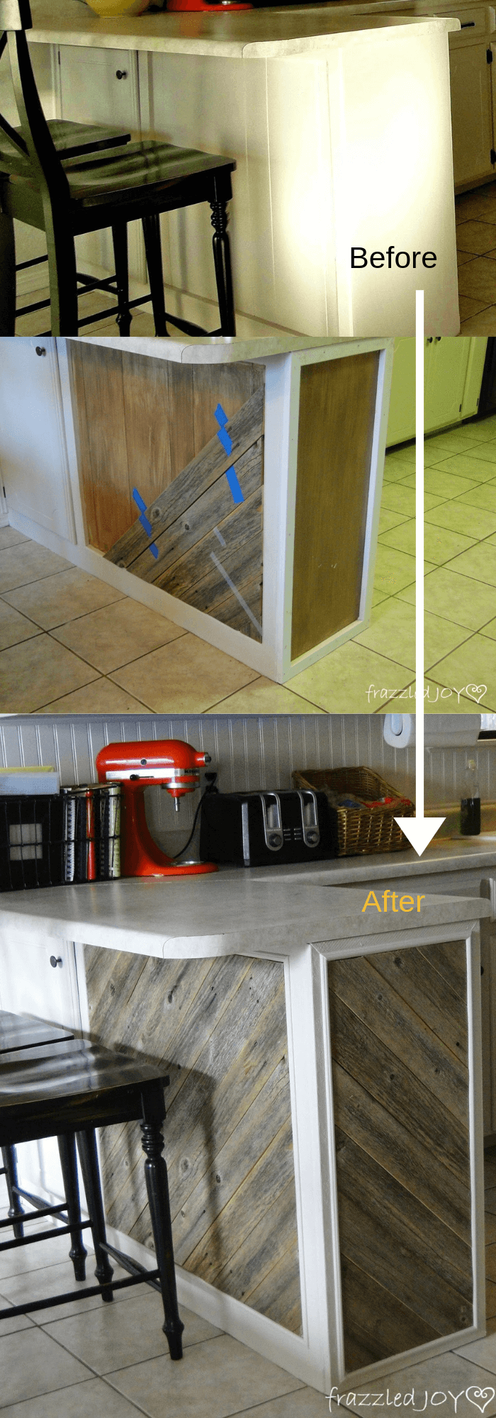 Kitchen Decor Projects With Reclaimed Wood Diagonal Planked Reclaimed Wood Kitchen Island