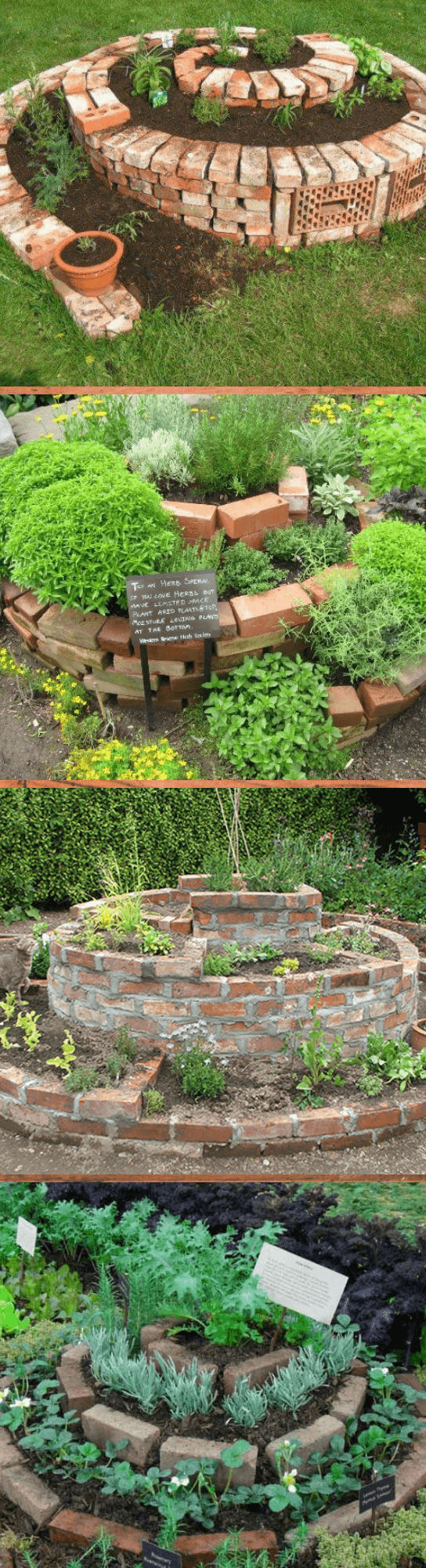 How to build a herb spiral with bricks