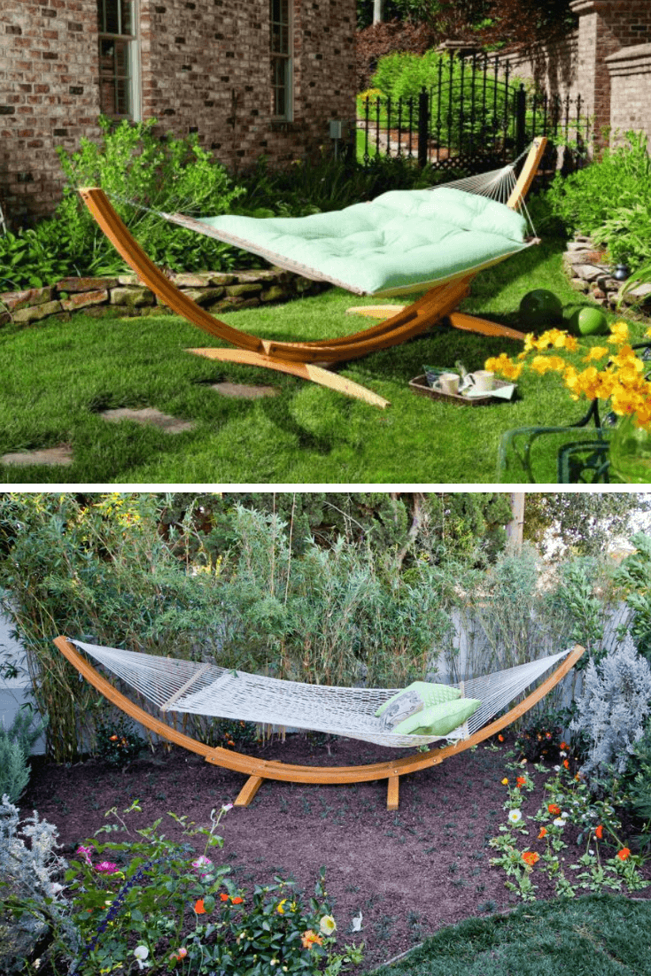 best backyard hammock ideas No Trees required