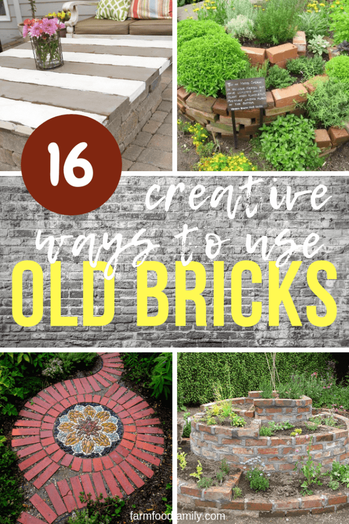 Creative ways to repurpose old bricks
