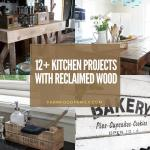 best kitchen decor projects with reclaimed wood