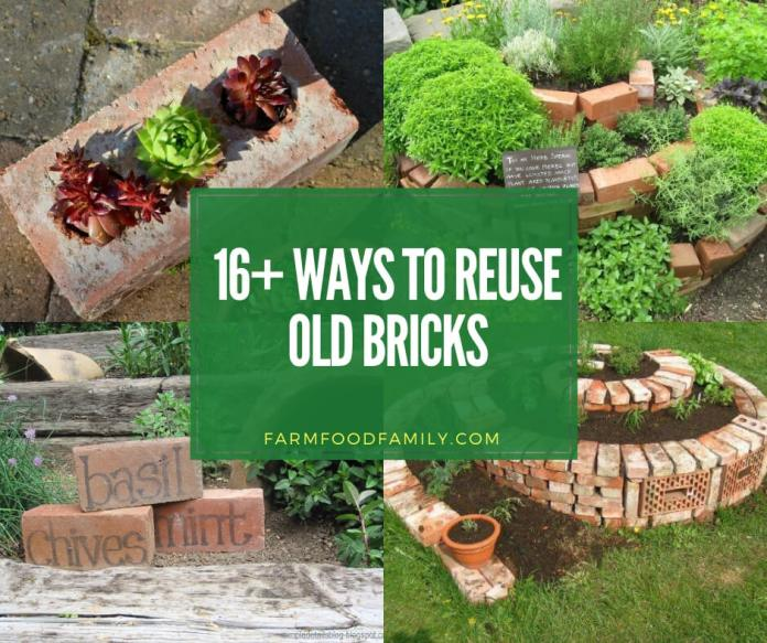 creative ways to reuse old bricks