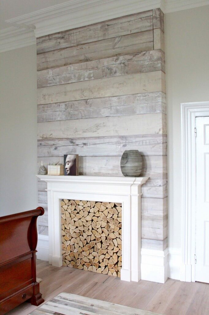 Accent Wood Plant Wall