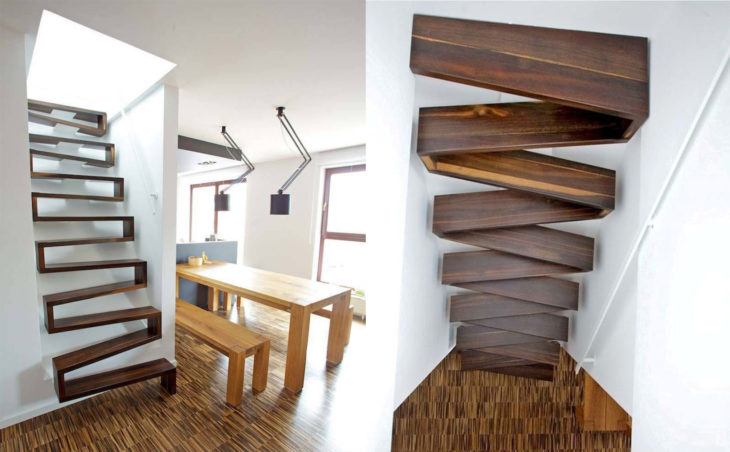 Gone are the days when the stairs had an established design; now they may have an irregular pattern.
