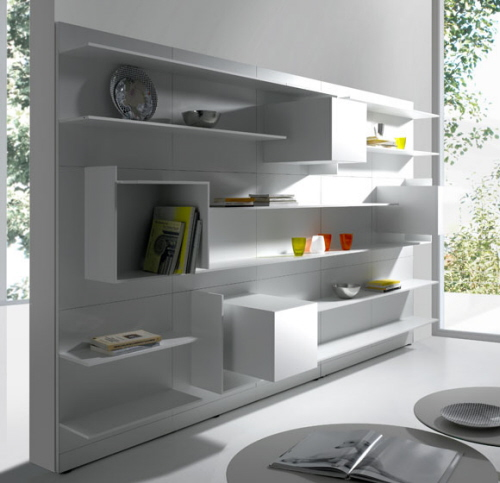 Modern and stylish office shelves