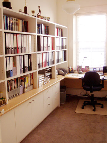 Office shelving design