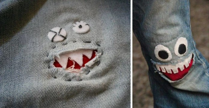 Quick solution for torn pants