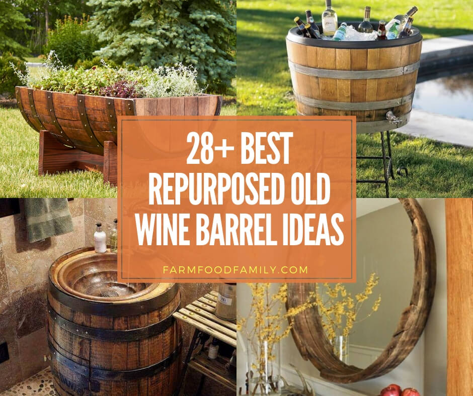 28+ Best Repurposed Old Wine Barrel Ideas & Projects For 2019