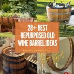 best repurposed old wine barrel ideas