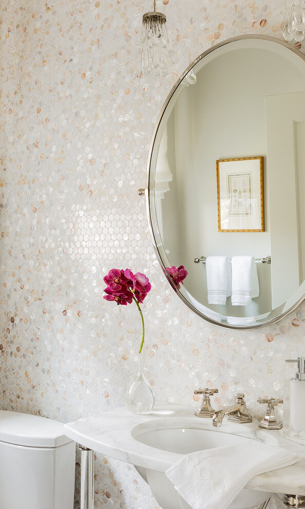 25 Best Bathroom Wall Tile Ideas With Mother Of Pearl For