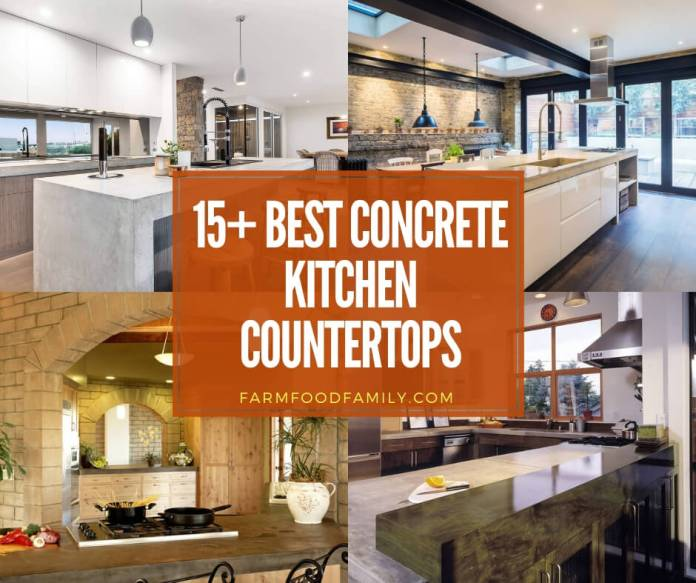 Best concrete kitchen countertops