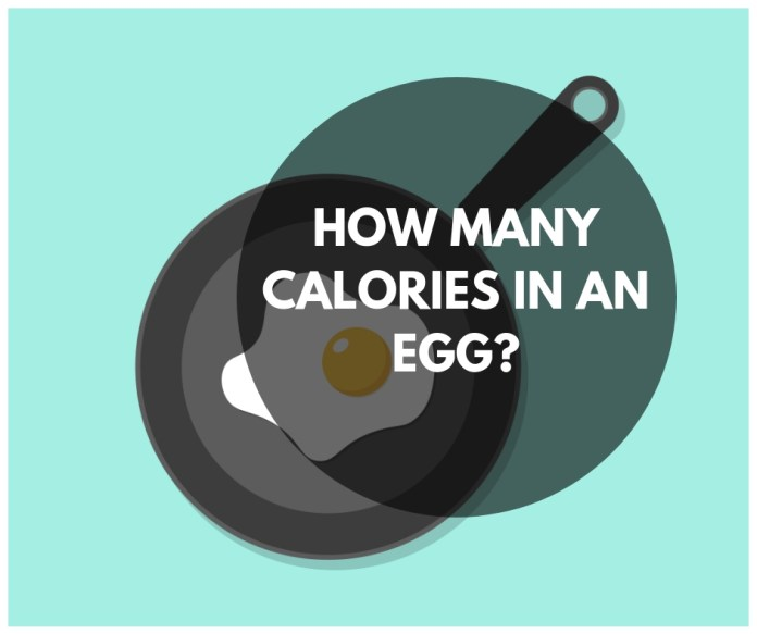 How many Calories in an egg?