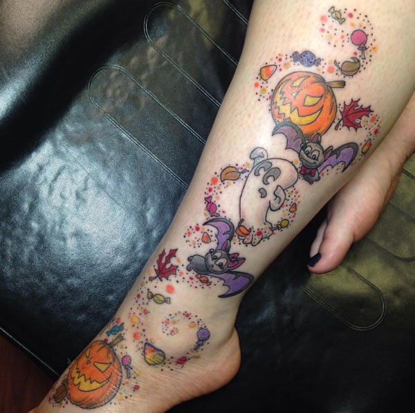 In fact, this is the only tattoo i've ever seen that i've liked (excepting my dad's faded anchor tattoo. 26 Scary Halloween Tattoo Ideas Designs For 2021