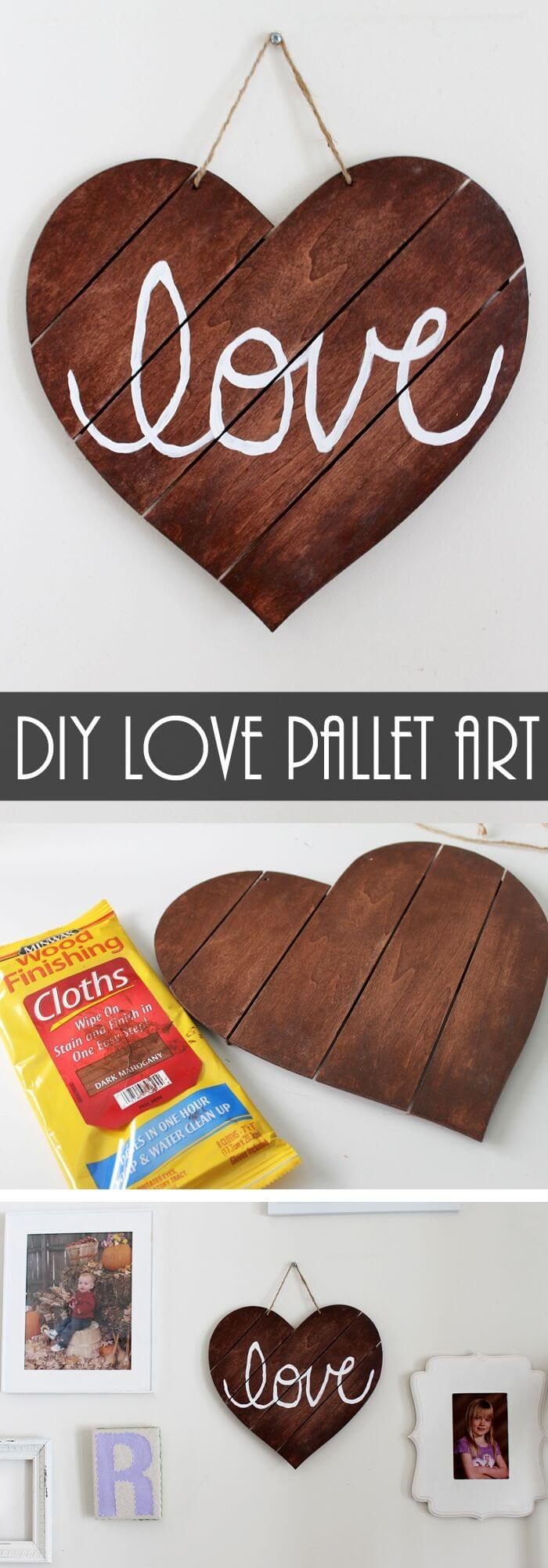 The twine sign - Rustic Wood Heart Projects & Ideas