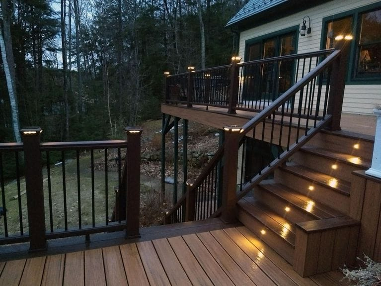 45+ Beautiful DIY Deck Lighting Ideas & Designs For 2020 on deck lighting product, outdoor deck lighting, deck lighting kits, lake deck lighting, deck lighting at night, deck rail safety, deck led lighting, deck rail cables, deck lighting fixtures, composite deck lighting, deck wall lighting, deck track lighting, deck lighting systems, railing lighting, deck rail construction, deck fence lighting, deck rail tables, deck rail wiring, lowe's deck lighting, deck floor lighting,