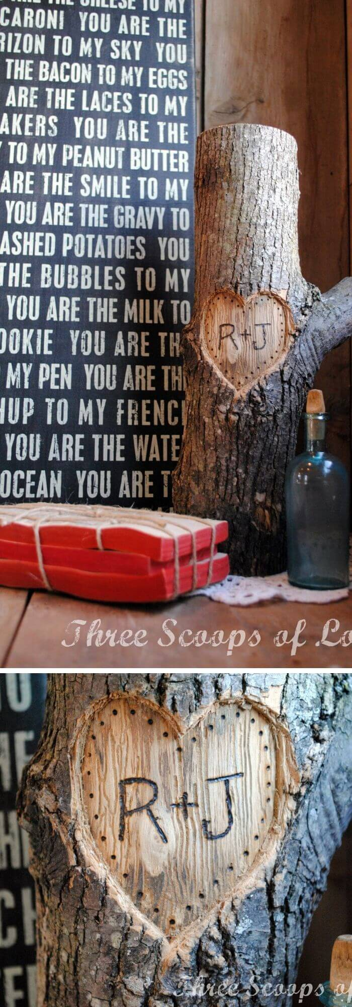 Love forever - Rustic Wood Heart Projects