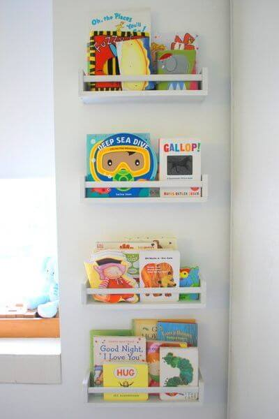 Use the spice shelves - Clever DIY Toy Storage & Organization Ideas & Projects For Kids