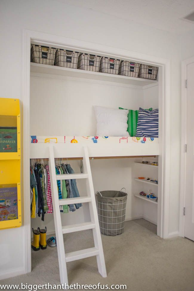Modify the closet - Clever DIY Toy Storage & Organization Ideas & Projects For Kids
