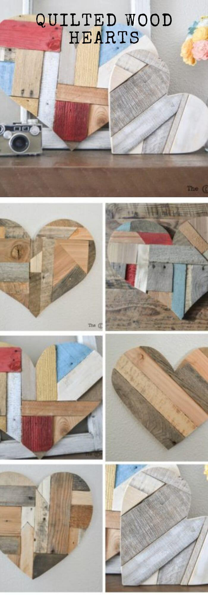 The broken heart recovery - DIY Rustic Wood Heart Ideas & Projects